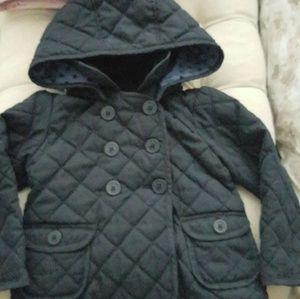 Gap  navy quilted jacket toddler girl